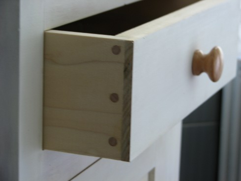 photo of Shaker cabinet drawer detail